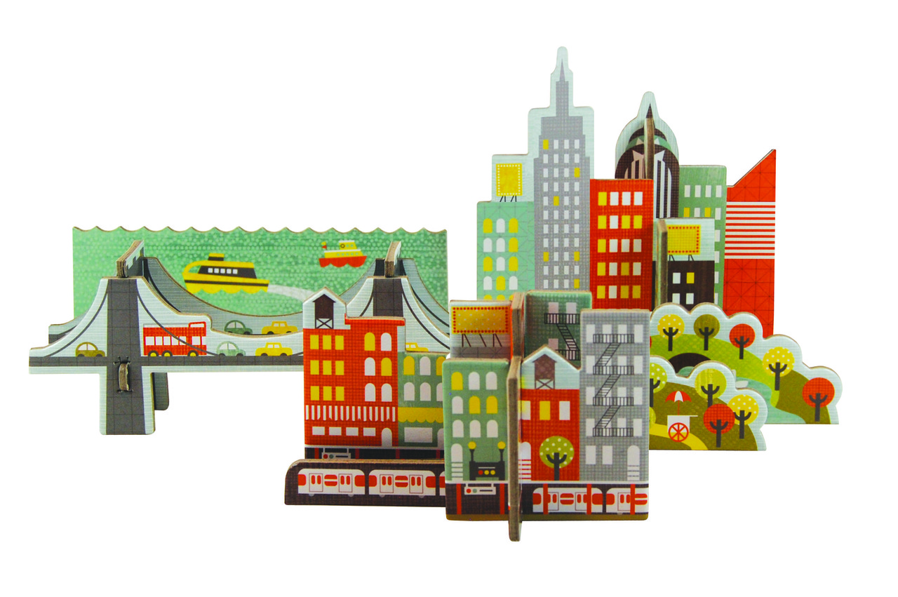 Petit Collage Pop-Out and Play New York