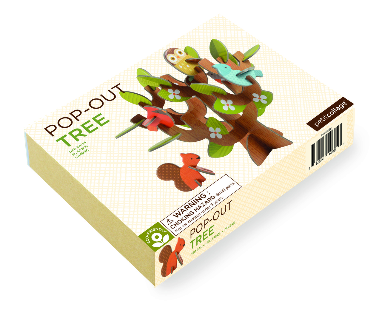Petit Collage Pop-Out and Play Tree