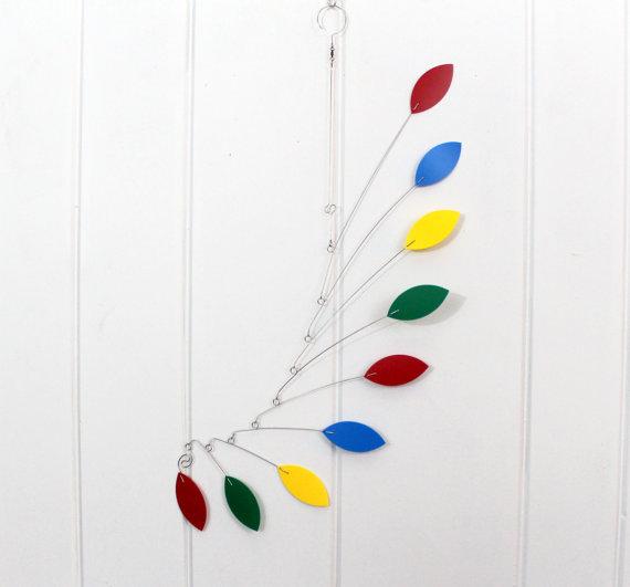 Rainbow Kinetic Mobile
