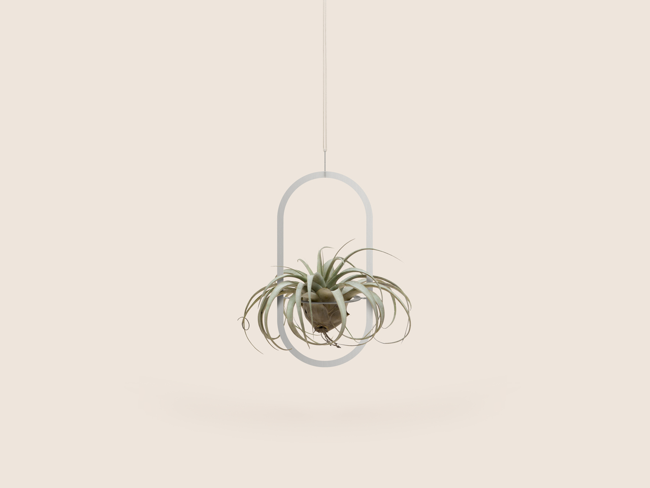Small Good Things Oval Plant Mobile, Silver