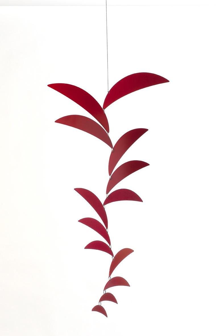 Ekko Workshop Crescent Cascade Mobile, Red