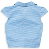 Organic Cotton Girl's Tie Front Spotty Blouse  - Fair Trade