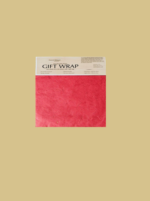 Celebration Red Wrapping Paper - Eco Friendly