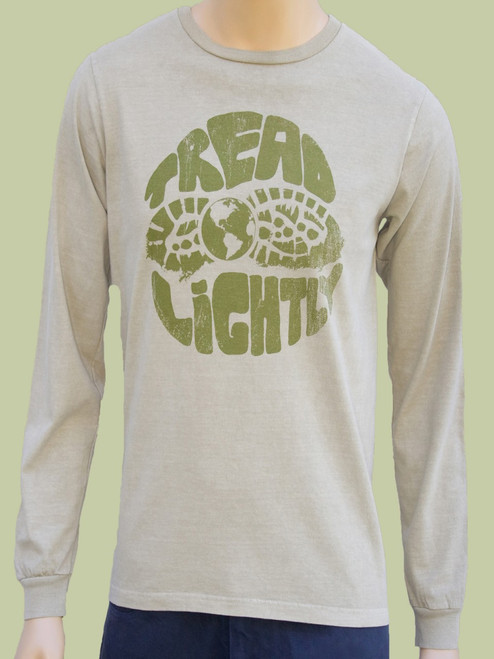 Tread Lightly on Organic Cotton Long Sleeve Tee