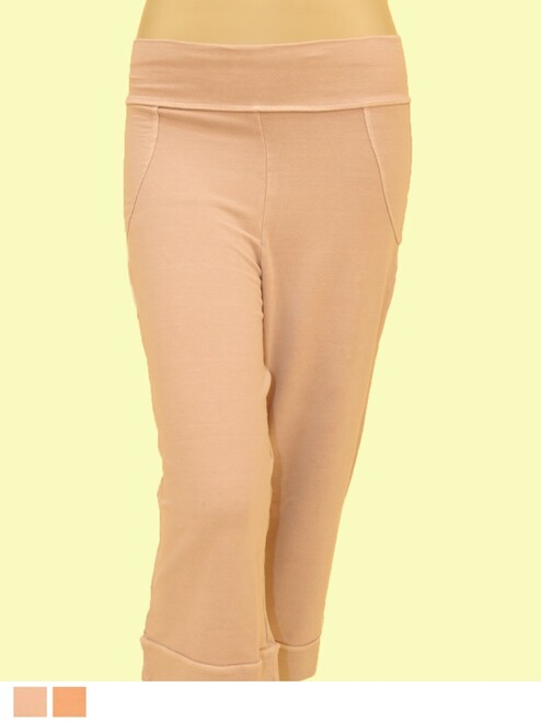 Bombay Crop Pant - Bamboo Rayon &  Organic Cotton Blend- Fair Trade