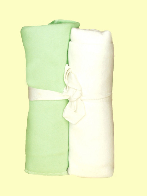Sage Swaddle Blanket - Certified Organic Cotton
