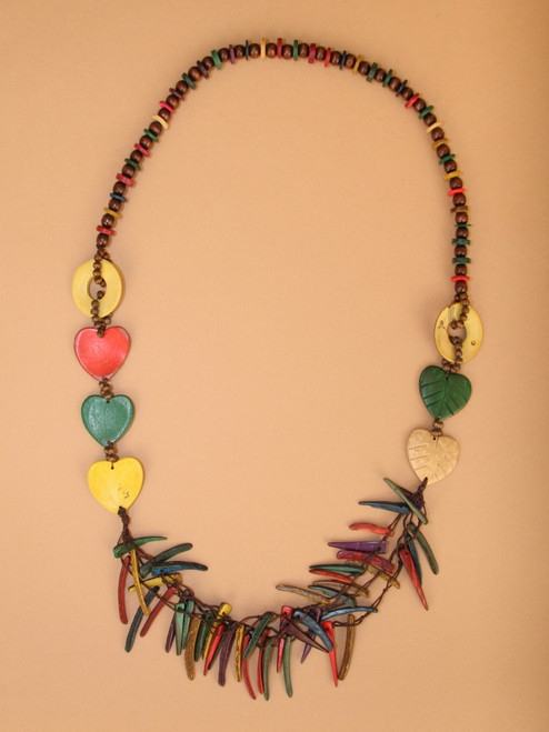 Hearts and Spikes Necklace & Earring Set