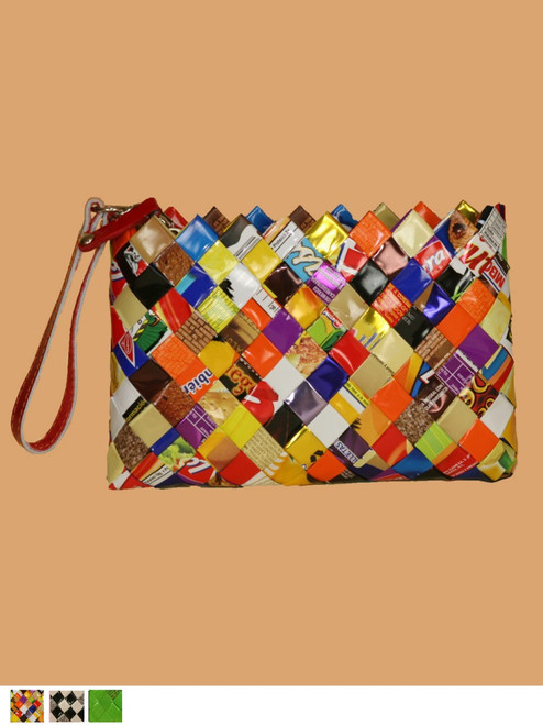 Itsy Bitsy Pouch - Recycled Hand Woven