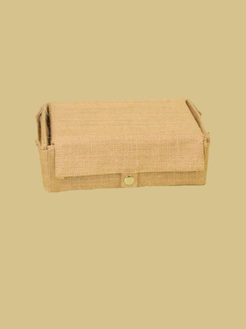 Jute Snap Box In  Natural Color