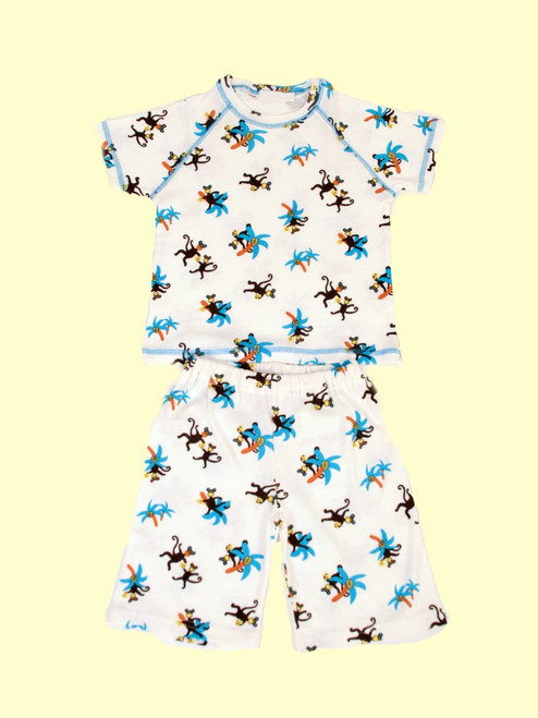 Knit T-Shirt with Short Set - Organic Cotton