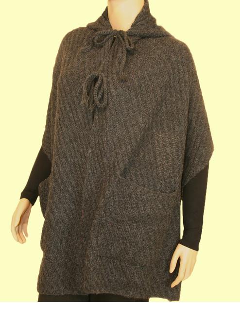 Long Knit Hoody - Premiun Alpaca