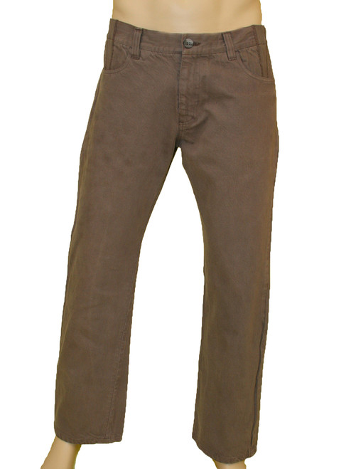 Men's Brown Denim Pants - Organic Cotton