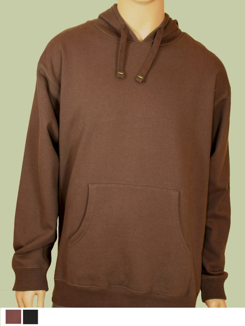Men's Pullover Hoody - 80% Organic Cotton