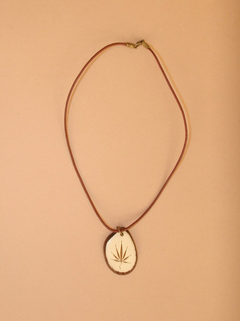 Men's Tagua Slice Necklace