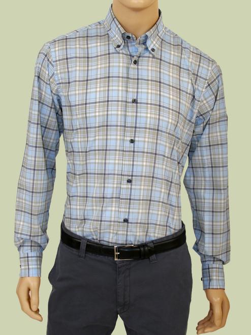 Plaid Long Sleeve Shirt - Organic Cotton
