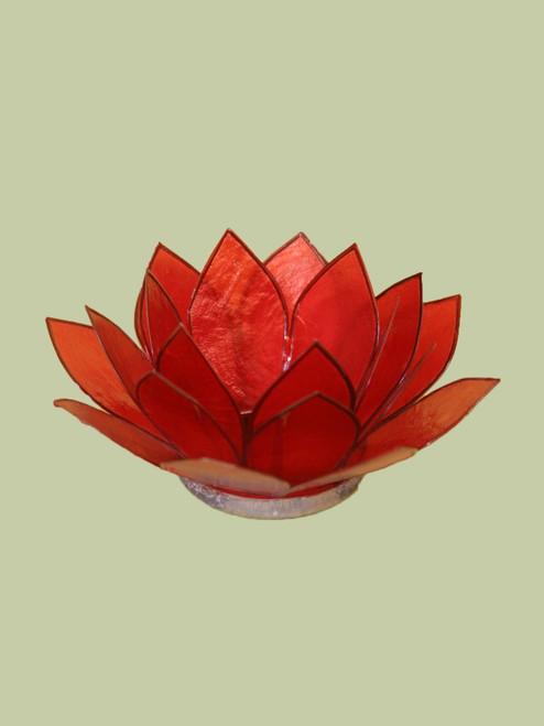 Rich Red Small Lotus Tea Light Holder