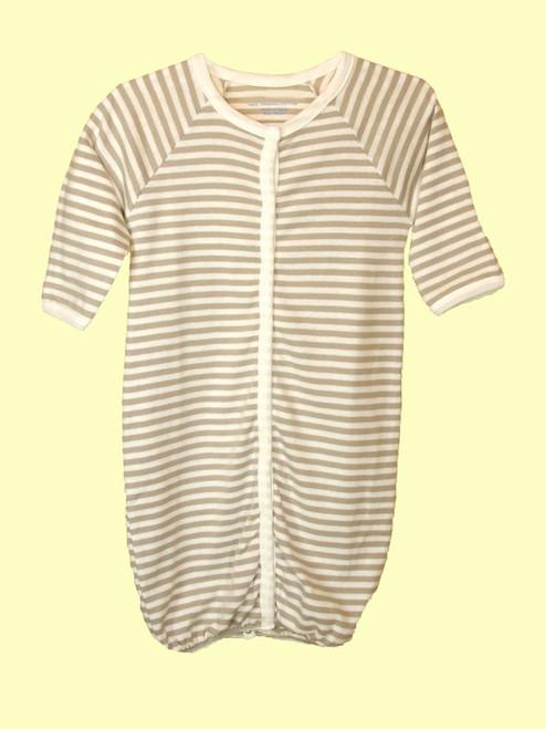 Stripes Romper/Gown - Organic Cotton