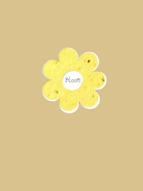 Seeded Yellow Flower Garden Tag