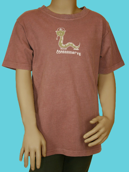 "Snake ""Conssserve"" Tee  . 100% Organic Cotton - Fair Trade"