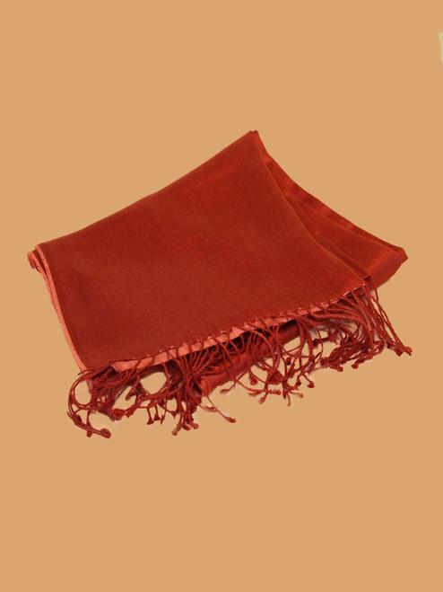 Sunkist Coral Silk Scarf