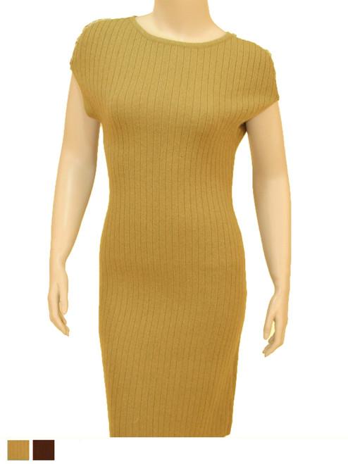 Elegant Sweater Dress - Natural Blend
