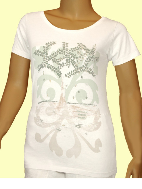 Tree of Life Women's Scoop Neck - Organic Cotton