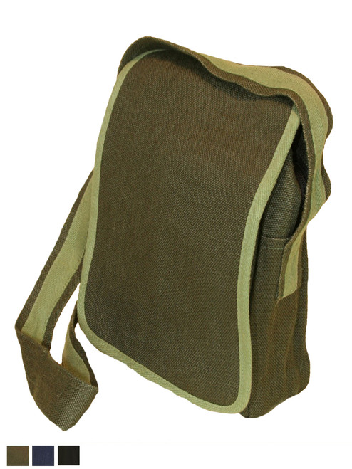 The Verona Basic Messenger Bag - Hemp