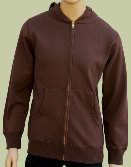 Men's Zip Hoody - 80% Organic Cotton
