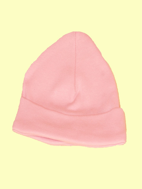Baby Pink Scull Hat . Certified 100% organic cotton - Fair Trade
