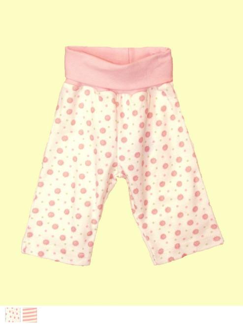 Pink Baby Waist Pant . Certified 100% organic cotton - Fair Trade