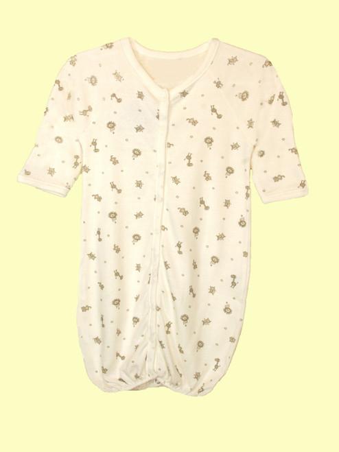 Animal Print Romper/Gown - Organic Cotton