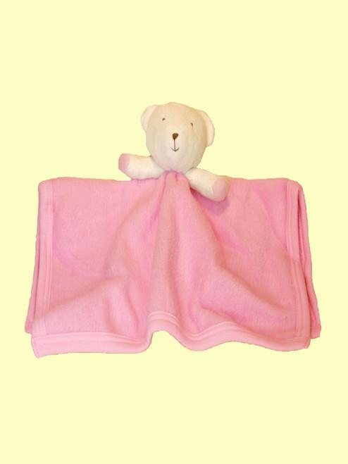Security Bear Blush Blanket - Organic Cotton