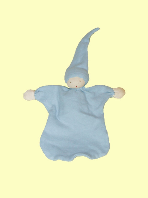 Sleeping Doll in Ice Blue - 100% Certified Organic Cotton