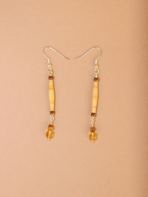 Gold Single Strand Earrings