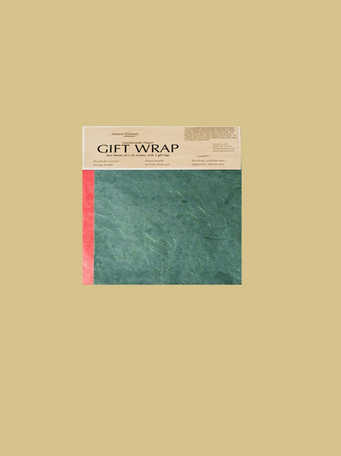 Celebration Green and Red Wrapping Paper - Eco Friendly