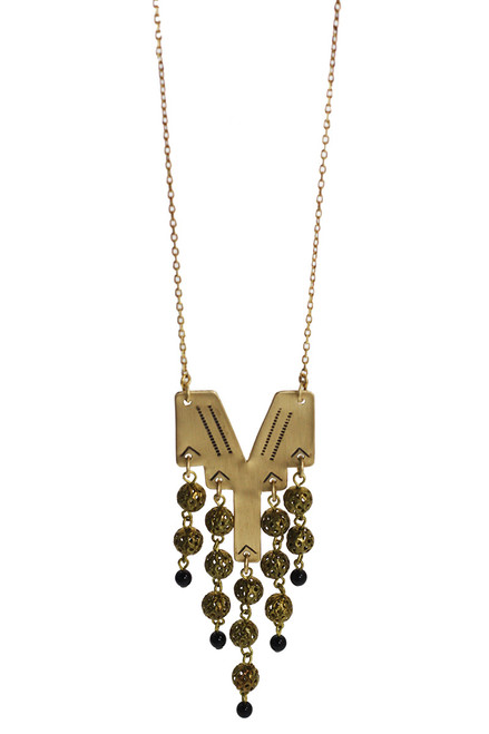 Hair Of Gold Necklace -Recycled Materials
