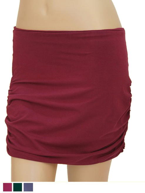 Ruched Mini Skirt - Bamboo Jersey