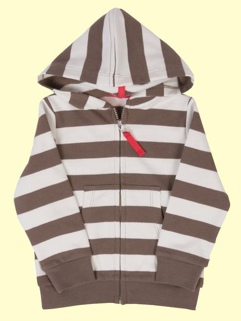 Stripy Zip Hoody - Organic Cotton