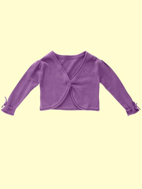 Knitted Grape Cardi- Organic Cotton
