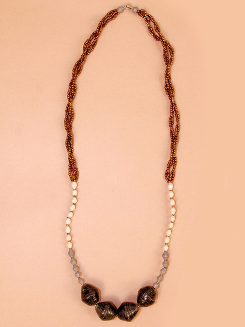 Midnight Scoop Necklace - Recycled Materials