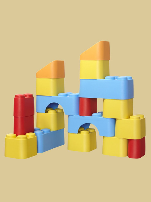 Oversized Multi-Color Blocks - Recycled Materials