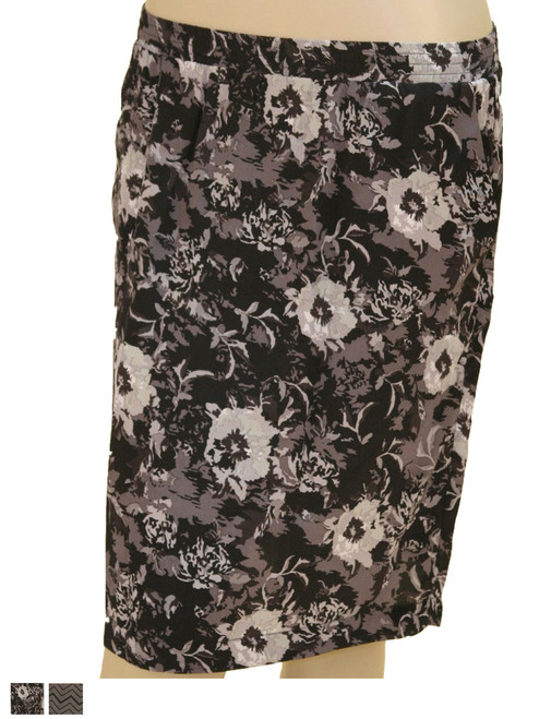 Elastic Waist Band Skirt - 100% Silk Crepe