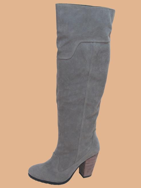 Payton Knee High Boot - Eco-friendly PU