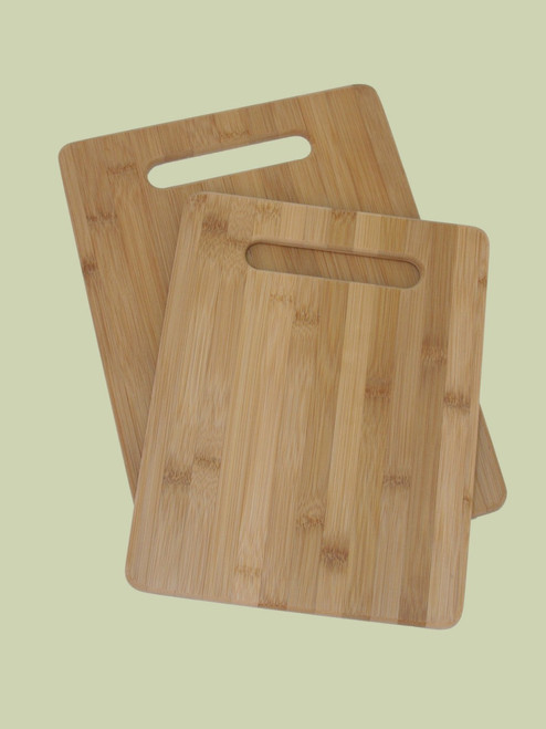 2 pc Cutting Board Set - Bamboo
