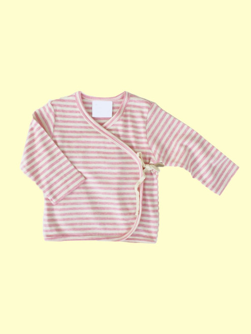 Organic Cotton Striped Pink Baby Kimono - Fair Trade