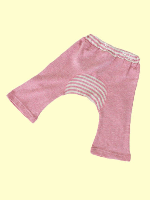 Organic Cotton Pink Baby Monkey Pants - Fair Trade