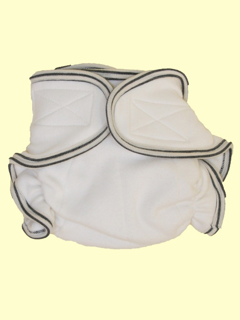 Organic Cotton Super Soft Baby Grey Trim Cloth Diaper - Fair Trade