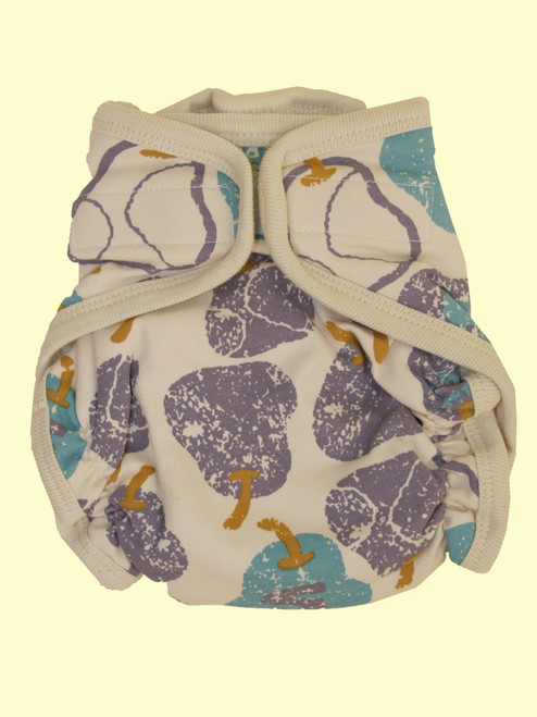 Organic Cotton Super Soft Blue Pear Baby Cloth Diaper - Fair Trade