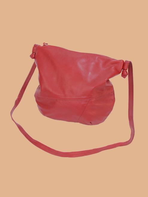 Dark Red Everyday Recycled Leather Handbag
