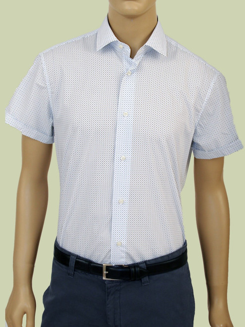 1978 Micro Multi-Color Squares Short Sleeve Harry Shirt